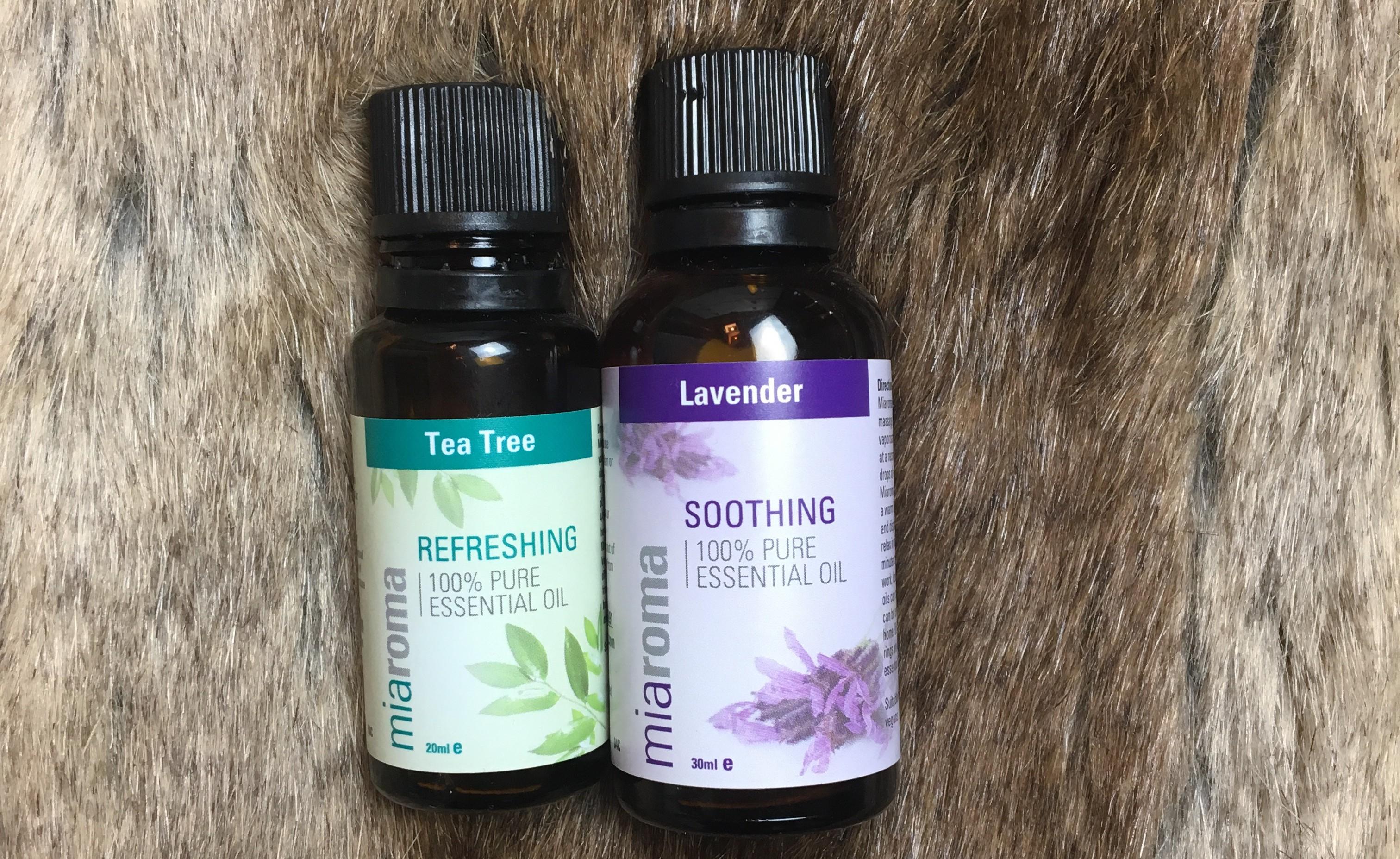 Huile essentielle de lavande et tea tree pour acne.JPG