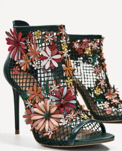chaussures a talons zara brodees