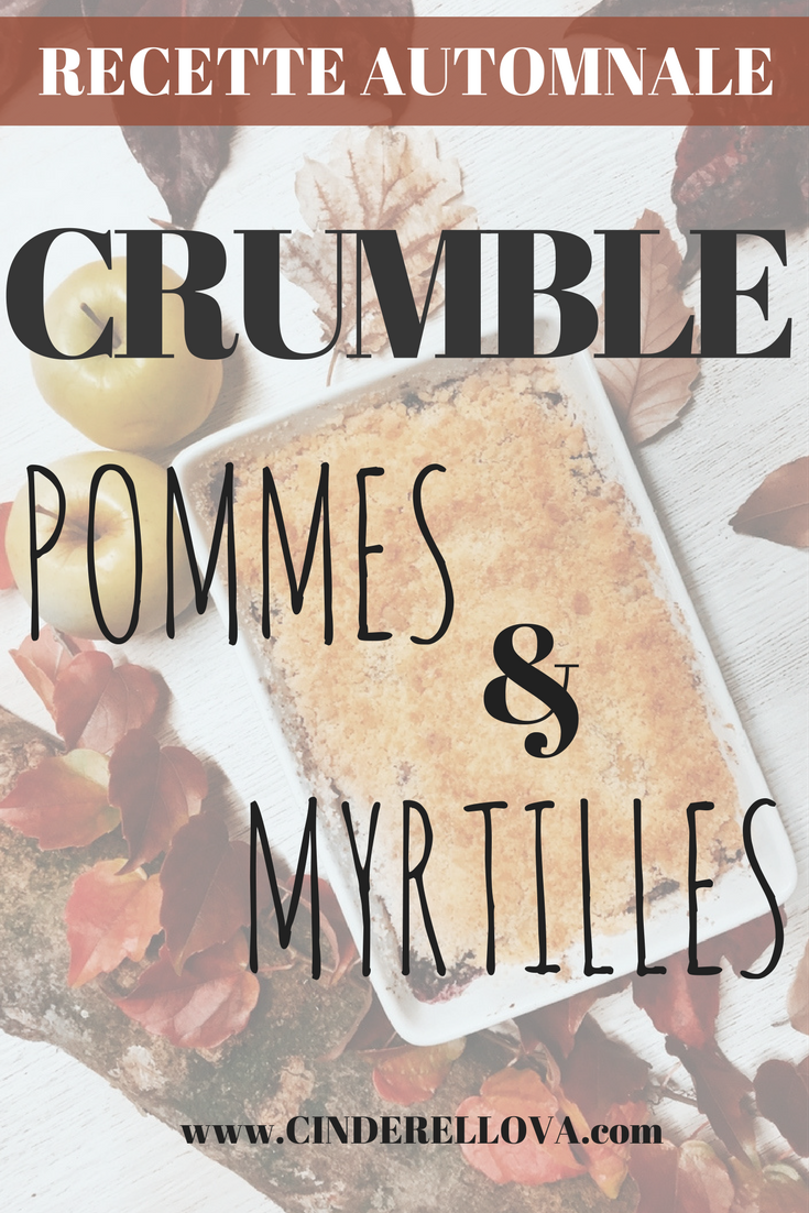 crumble pomme mytille cannelle
