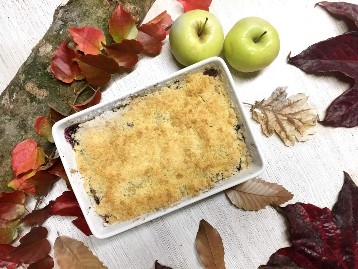 crumble pomme cannelle dessert automne