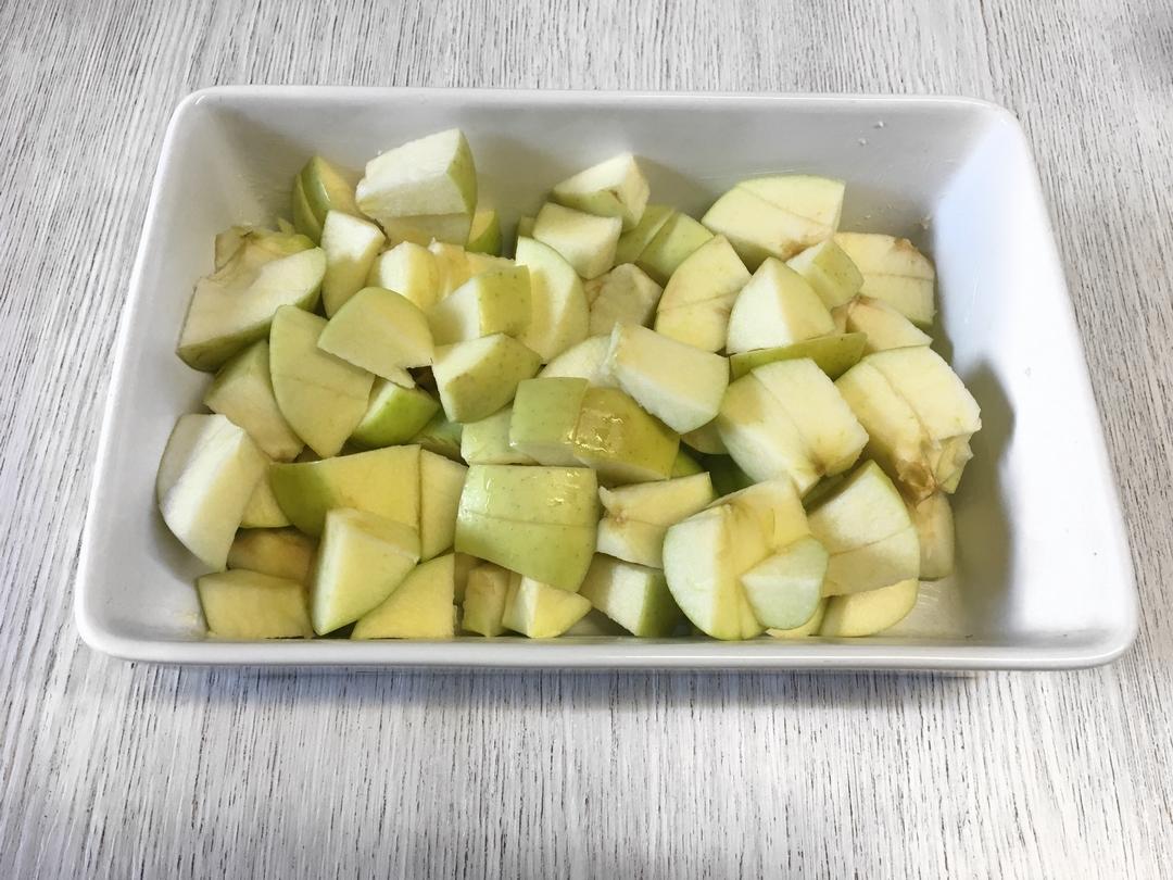 recette crumble mytille pomme cannelle