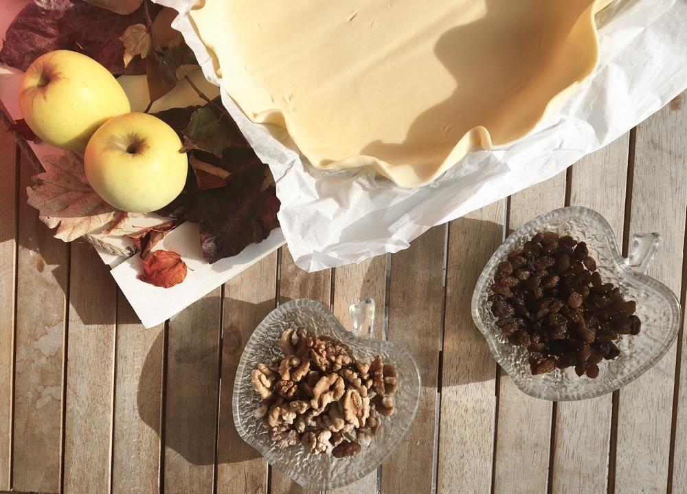 ingredient tarte pomme strudel noix