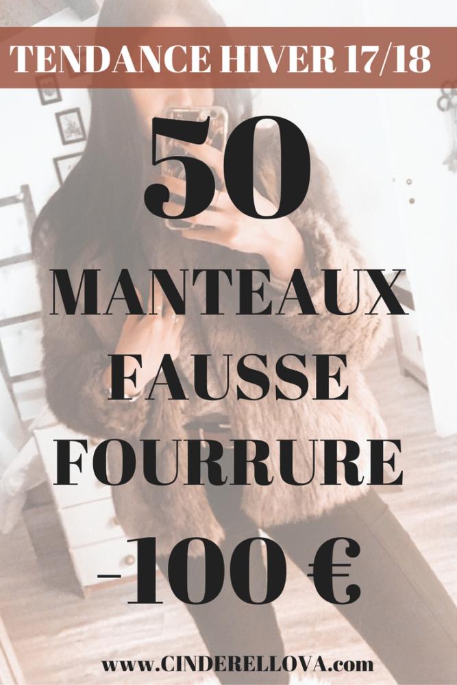 50 MANTEAUX FAUSSE FOURRURE MOINS 100E