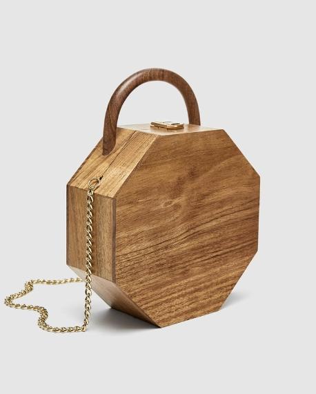 Sac bandouliere bois rigide tendance