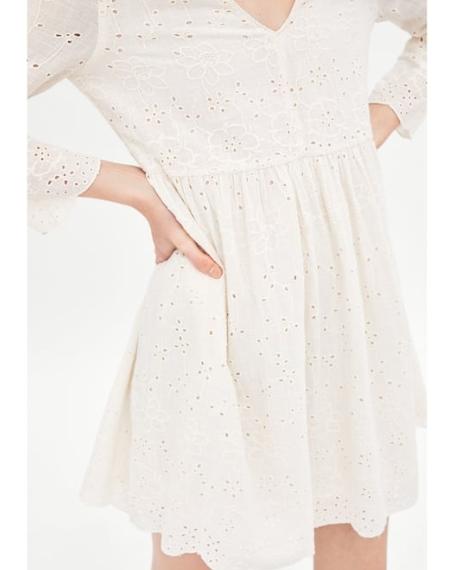 robe blanche brodee boheme