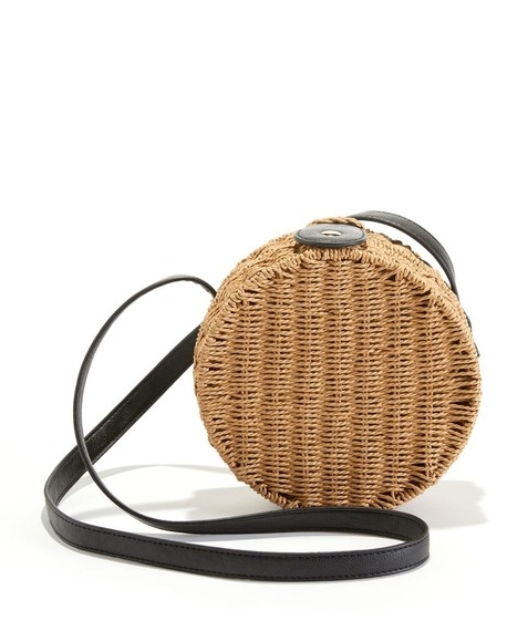 sac bandouliere rond rotin tendance