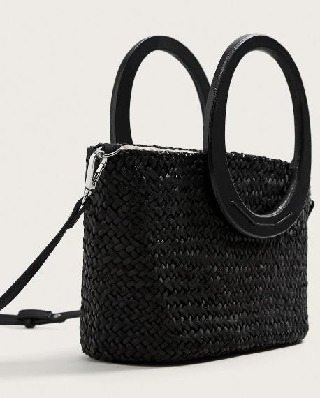 sac main paille noir tendance