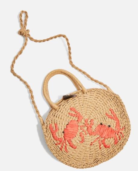 sac plage rond crabe tendance