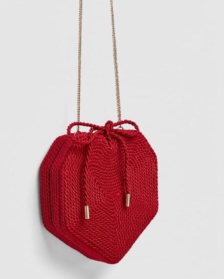 sac rotin rouge coeur tendance