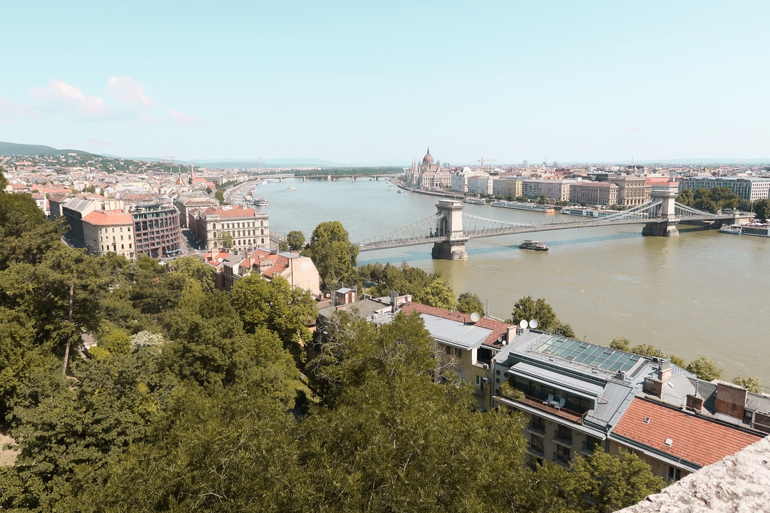 vue panoramique danube parlement budapest