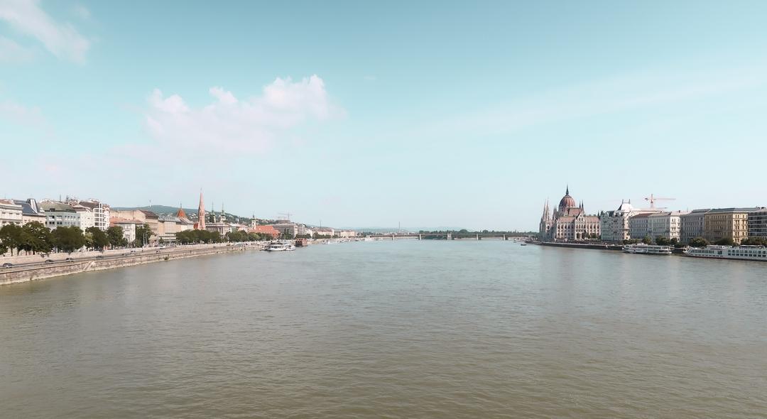 vue panoriamique budapest danube pont