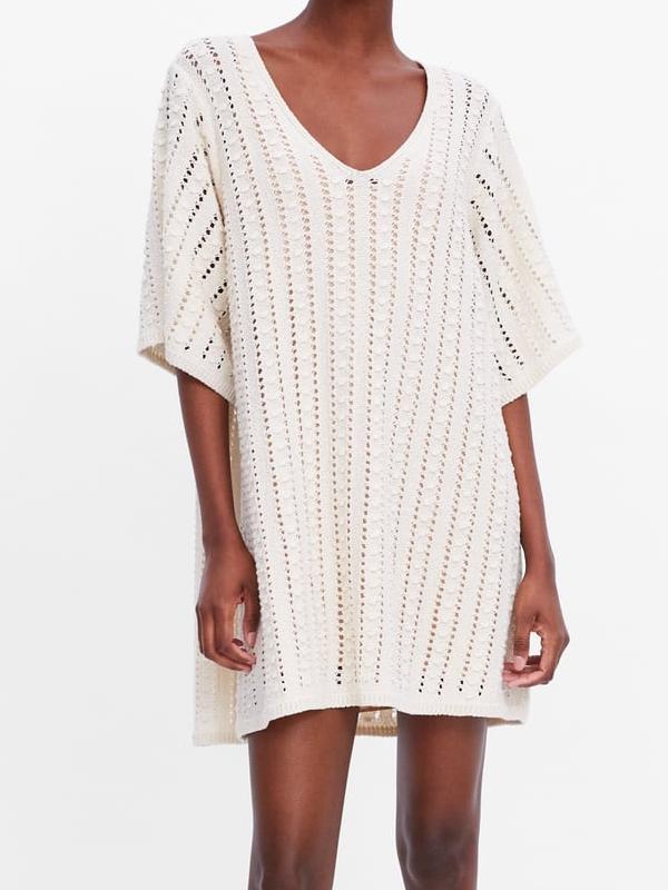 robe blanc casse zara