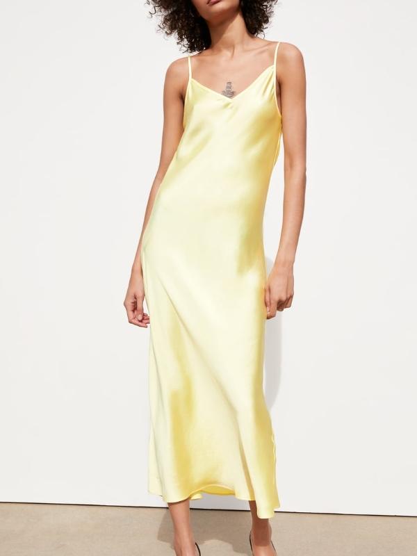 robe style nuisette jaune zara