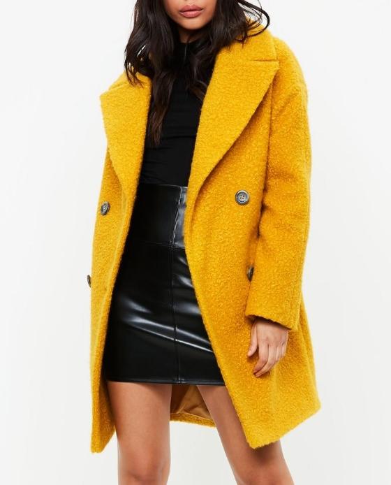 manteau jaune black friday missguided