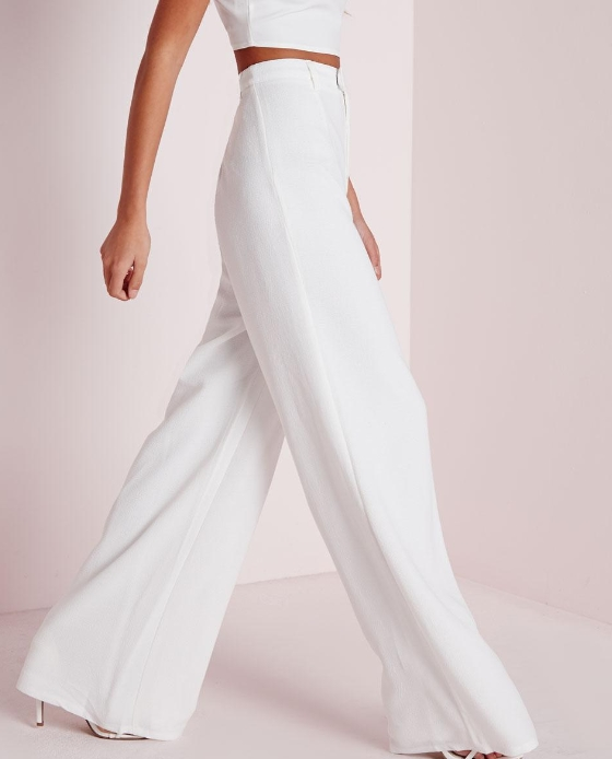 pantalon large blanc black friday