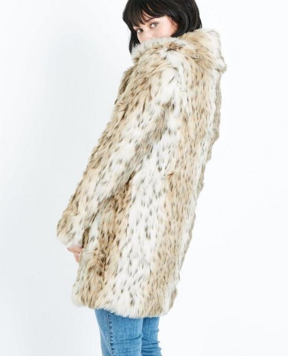 manteau fausse fourrure long leopard