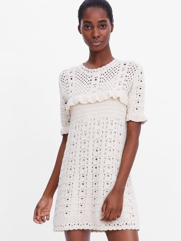 robe crochet blanche