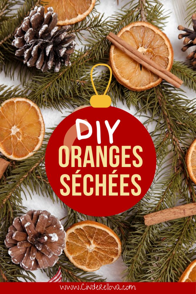 DIY oranges séchées noël