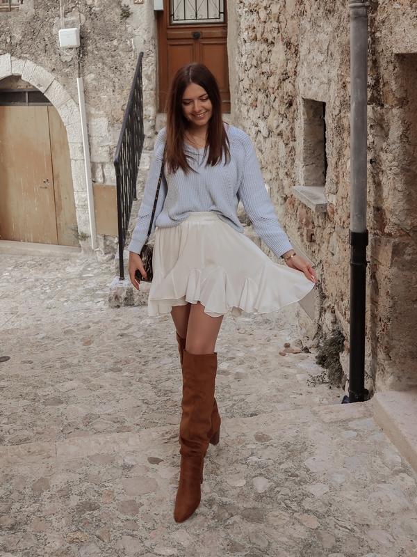 idee tenue jupe blanche volant