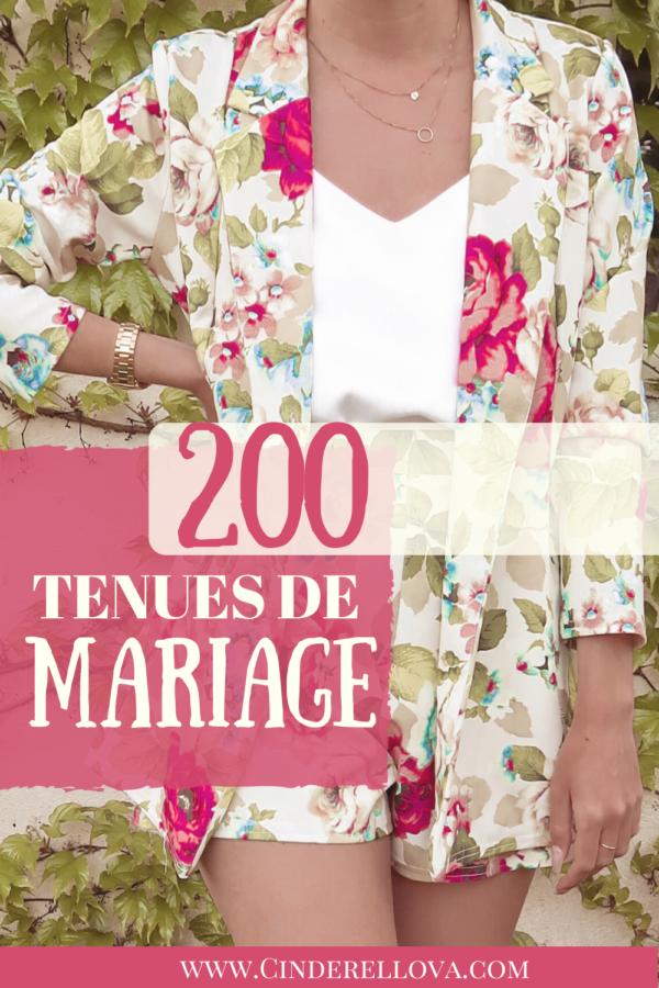 200 tenues mariage invitée